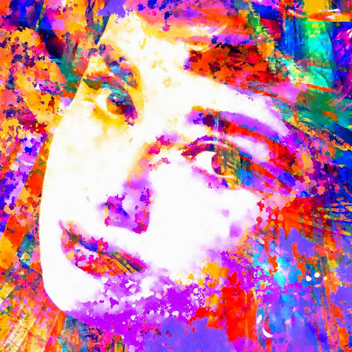 Colorful Life ~ Audrey Hepburn - Stacey Art Prints
