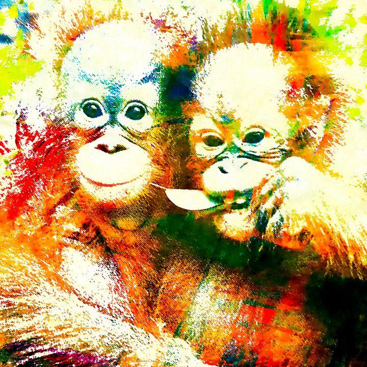Orangutan - Stacey Art Prints