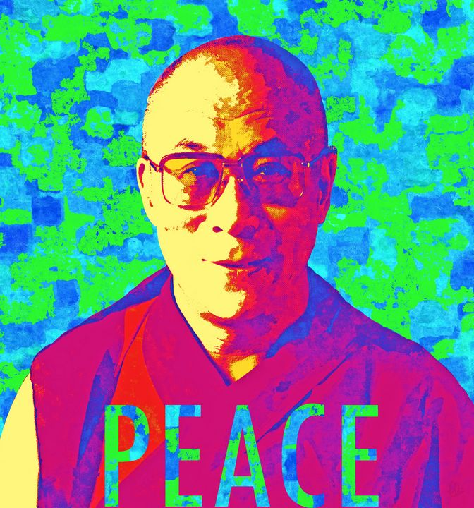 Dalai Lama ~ Peace - Stacey Art Prints