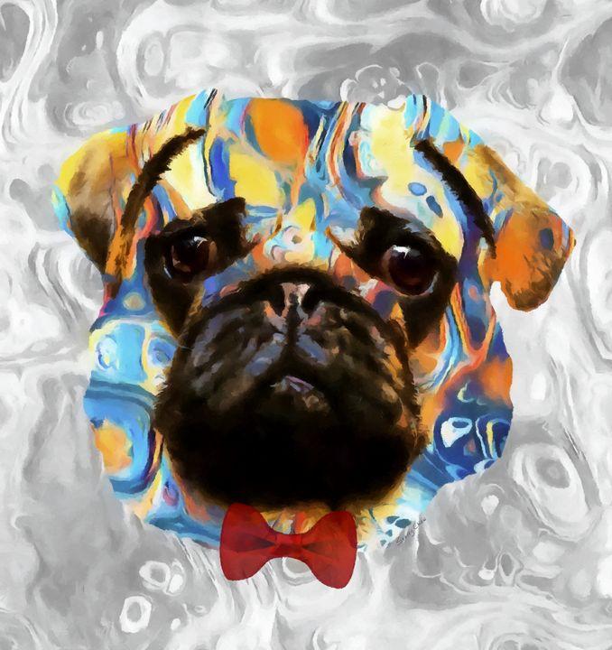 Pug - Stacey Art Prints
