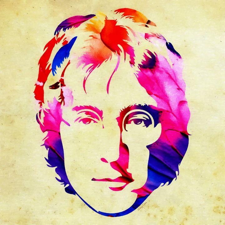 Peace - John Lennon - Stacey Art Prints