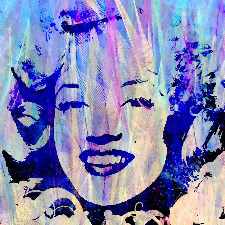 The Blue Marilyn - Stacey Art Prints