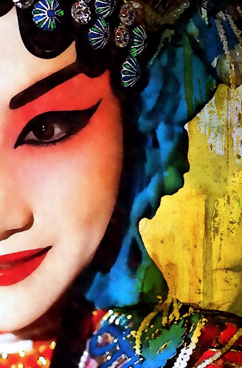 Chinese Opera Girl - Stacey Art Prints