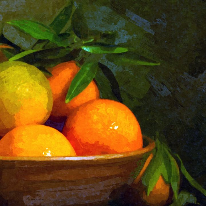 Still Life With Oranges - Stacey Art Prints