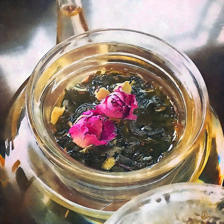 Flowering Tea - Stacey Art Prints