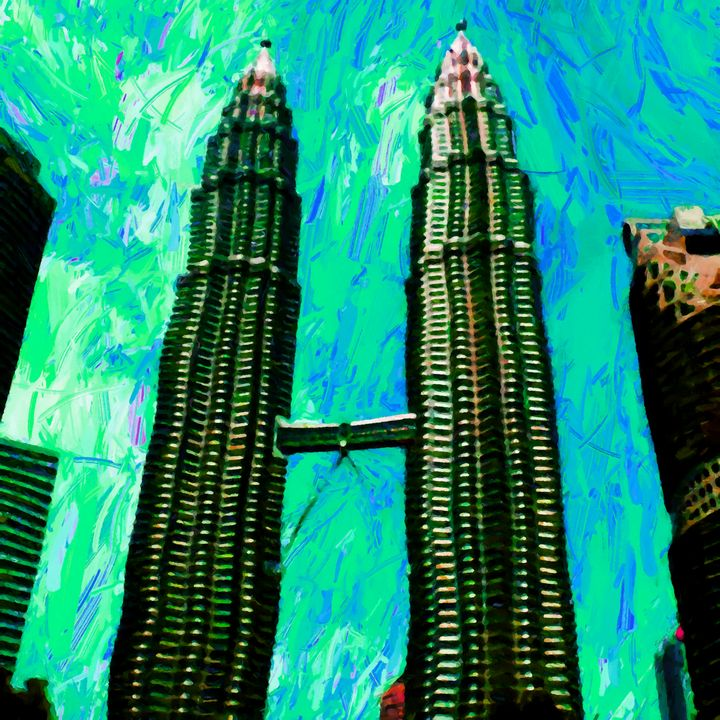 The Petronas Twin Towers - Stacey Art Prints