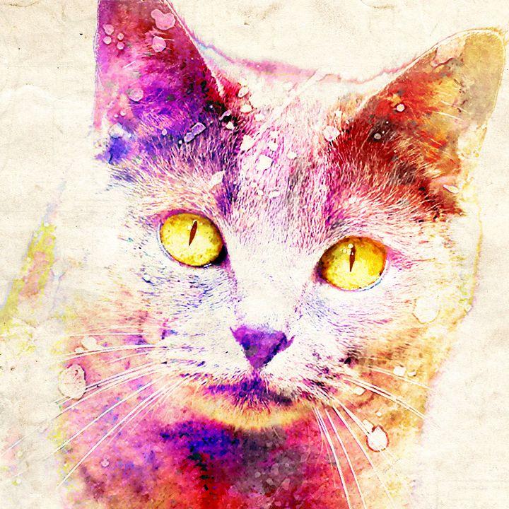 Spooky Cat - Stacey Art Prints