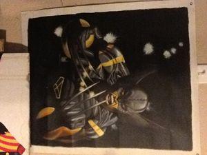 Wolverine acrylic painting