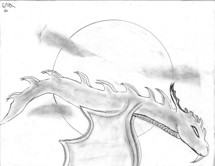 Flying Moon Dragon - Cera's Art