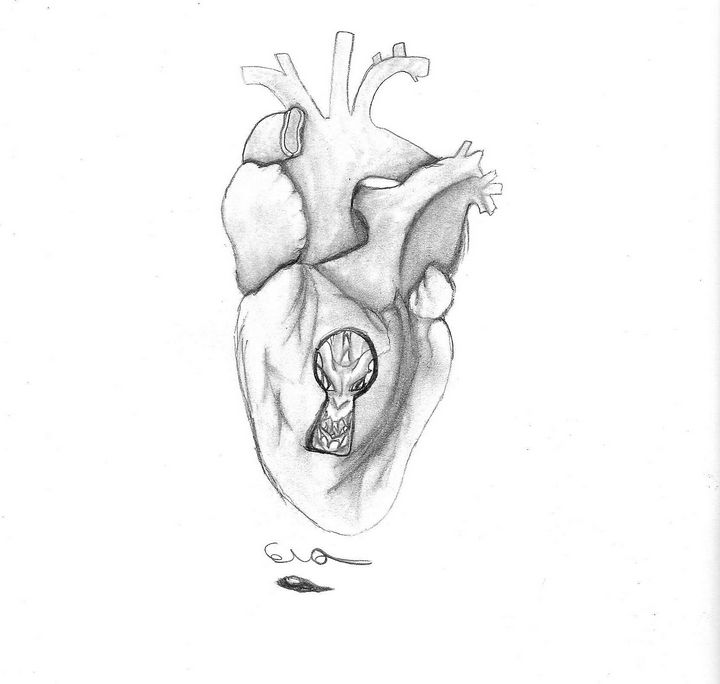Heart with Key Hole - Cera's Art