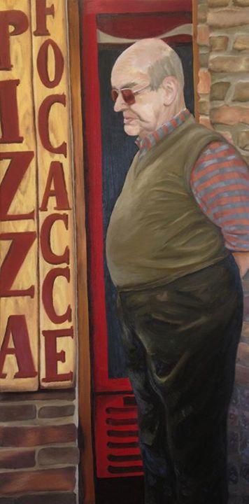 Pizza in San Gimignano - Emily Whetstone