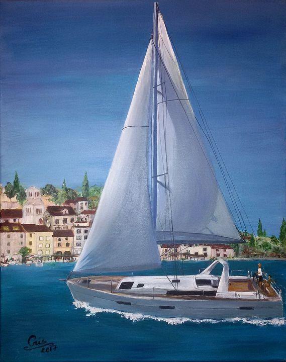 Boat sailing in Croatia - seasore - Amerindian