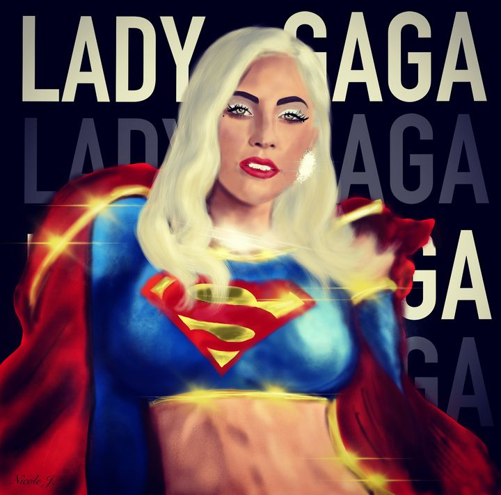 Lady Gaga as supergirl - NiCole J