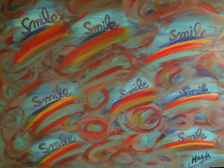 Rainbow smiles - Magda Loves to Paint