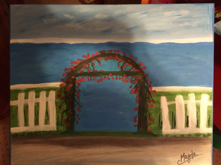 The Gate - Magda Loves to Paint