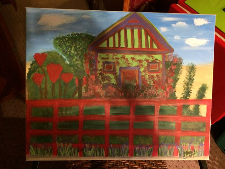 Flowers house - Magda Loves to Paint