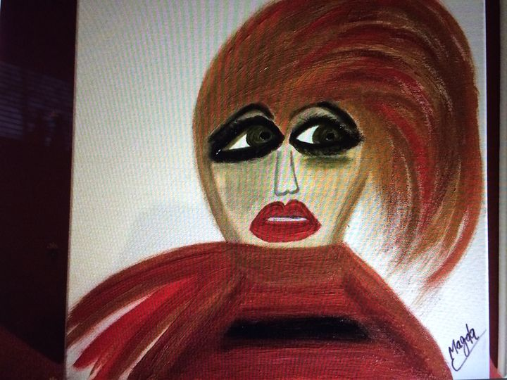 Magda's inner fear - Magda Loves to Paint