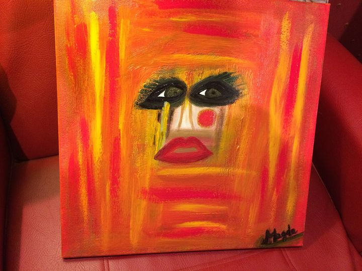 Woman trapped in a box - Magda Loves to Paint