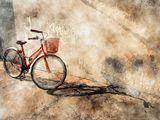 Photographic impression on canvas