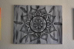 Grey Mandala