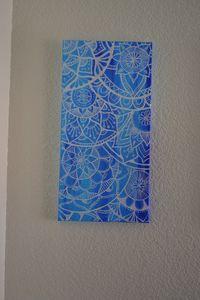 Blue Mandala Painting