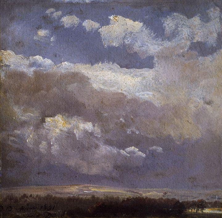 Johan Christian Dahl~Thunderclouds - Artmaster