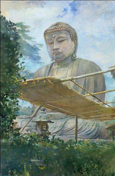 John La Farge~The Great Statue of Am - Artmaster