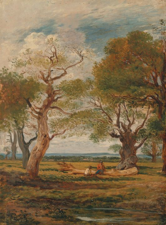 John Linnell~Landscape with Figures - Artmaster
