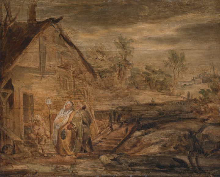 John Lonciman~Mary and Joseph Outsid - Artmaster