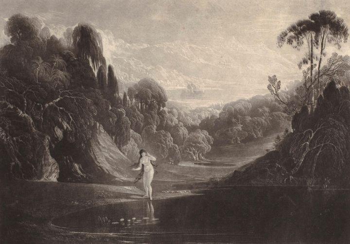 John Martin~Eve at the Fountain - Artmaster