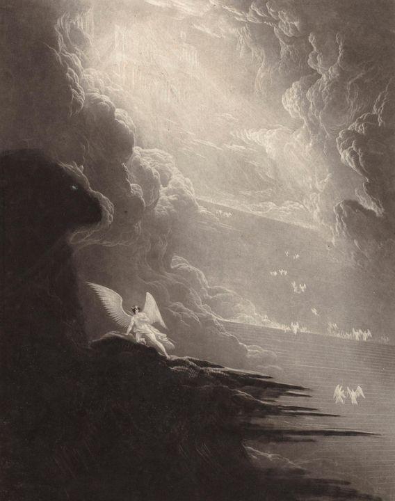 John Martin~Satan viewing the ascent - Artmaster