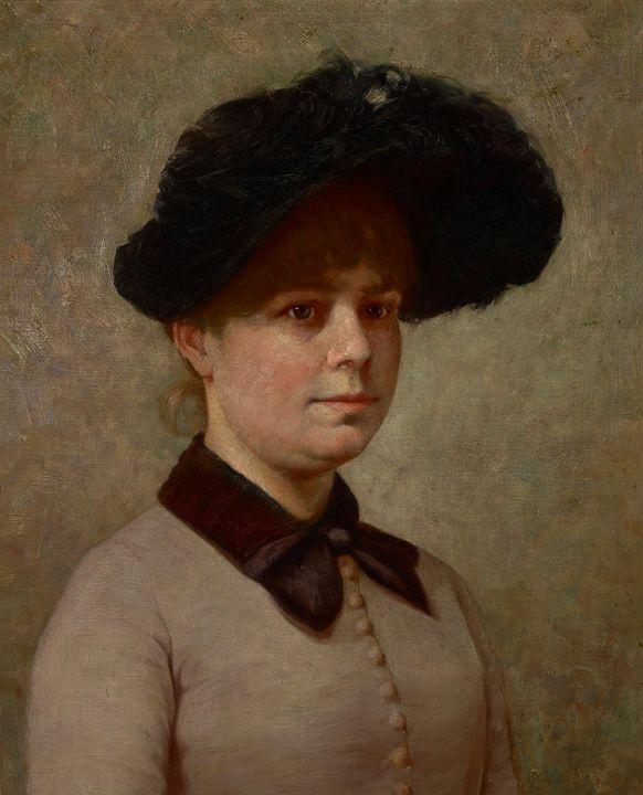 John Ottis Adams~Portrait of Mary Ge - Artmaster