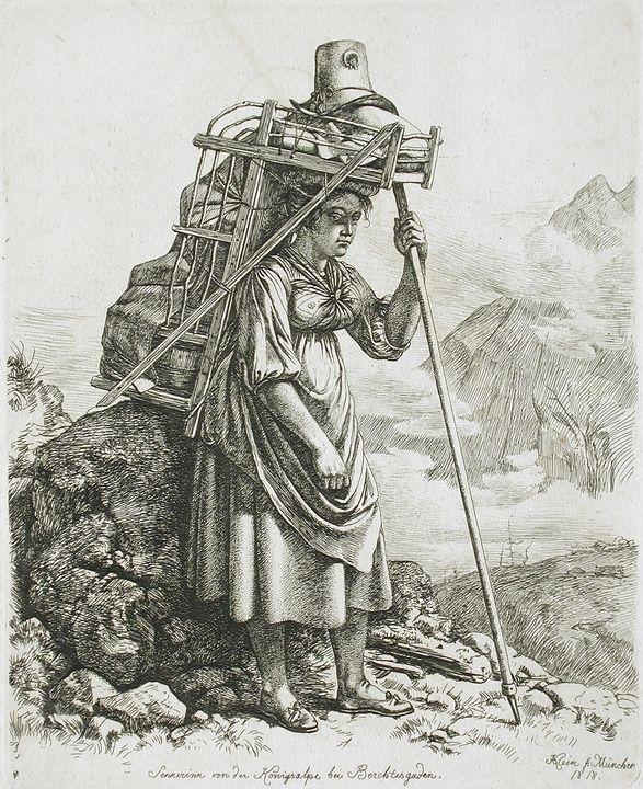 Johann Adam Klein~Dairy Maid from Be - Artmaster
