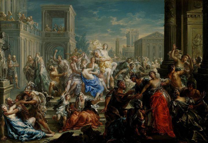 Johann Georg Platzer~Rape of Sabine - Artmaster