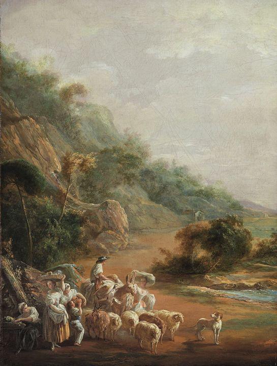 Luis Paret y Alcázar~Scene with Vill - Artmaster