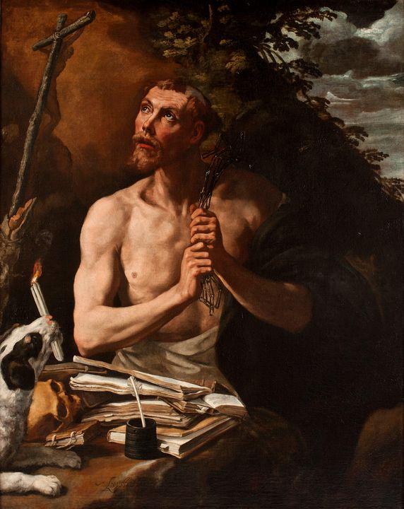 Luis Tristán~St Dominic in Penitence - Artmaster
