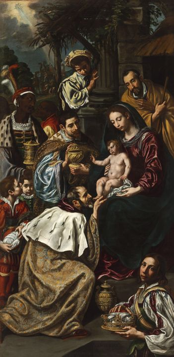 Luis Tristán~The Adoration of the Ma - Artmaster