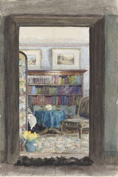 M. F. Pearce~The Library at Brabourn - Artmaster