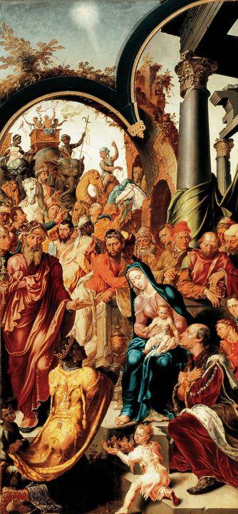 Maarten van Heemskerck~The Adoration - Artmaster
