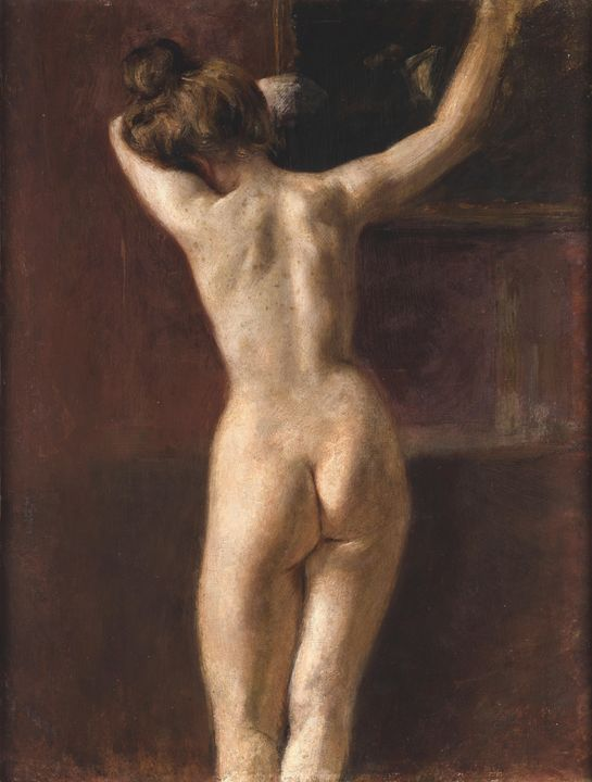 Mariano Fortuny~Female Nude from bac - Artmaster