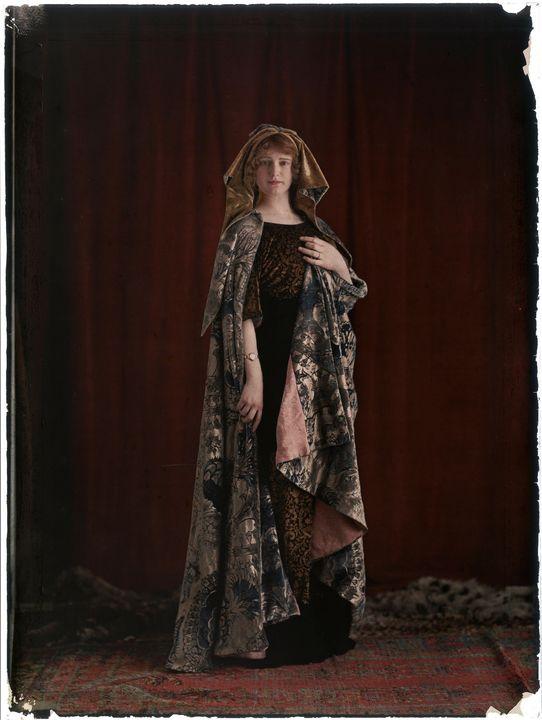 Mariano Fortuny~Model wearing a prin - Artmaster