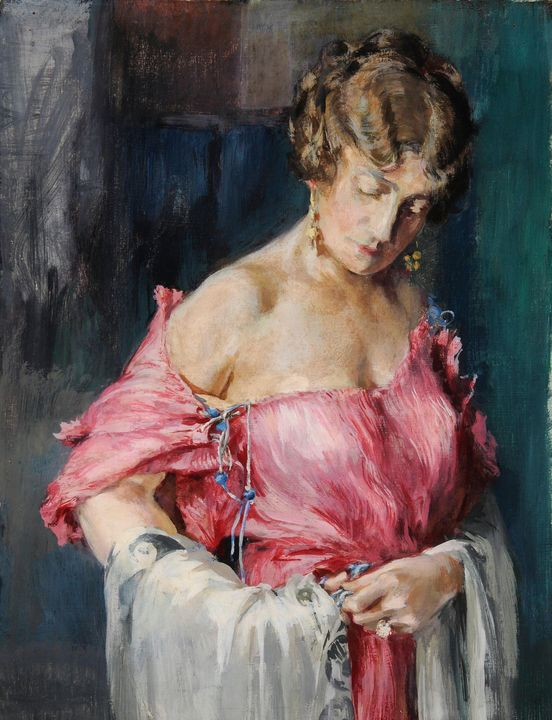 Mariano Fortuny~Study for the pink d - Artmaster