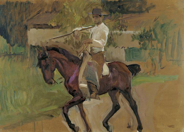 Joaquín Sorolla~Cattle-driver. Sevil - Artmaster