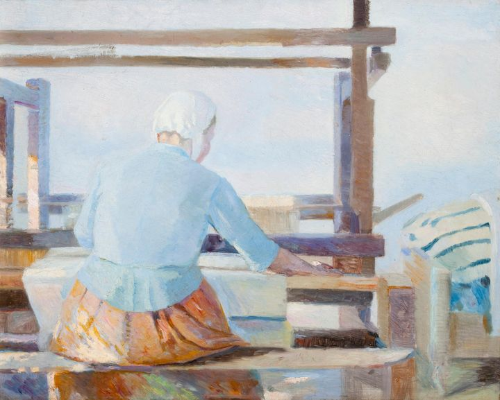 Marie Krøyer~At the loom - Artmaster