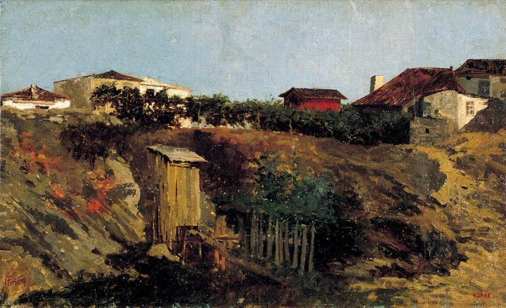 Marià Fortuny~Portici Landscape - Artmaster