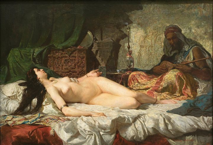 Marià Fortuny~The Odalisque - Artmaster
