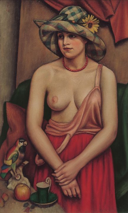 Mark Gertler~The straw hat - Artmaster