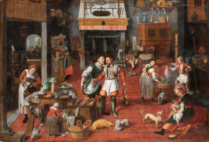 Marten van Cleve~Kitchen interior - Artmaster