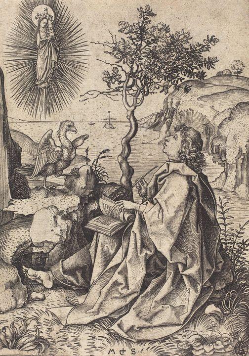 Martin Schongauer~Saint John on Patm - Artmaster