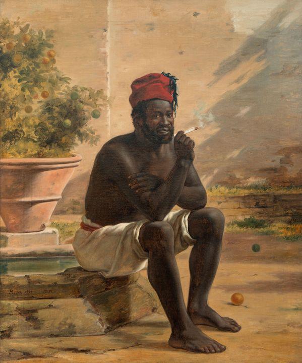 Martinus Rørbye~A Seated Nubian - Artmaster